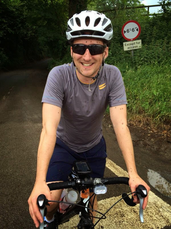 Fraser Hardy, Qudini Co-Founder and CTO, TechBikers Paris to London